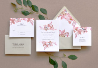 Love Abloom Wedding Invitation