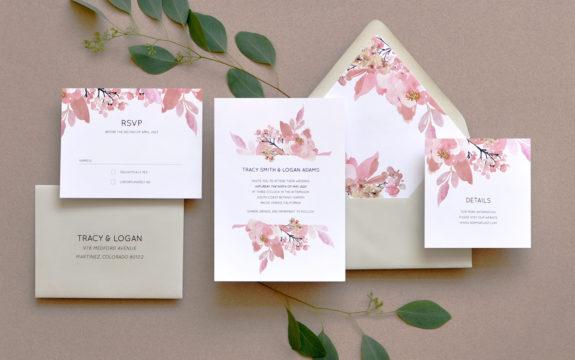 Love Abloom Wedding Invitation