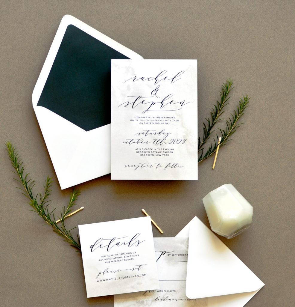 Modern Stone Wedding Invitation • Staccato