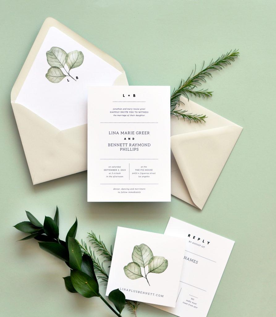 Simply Modern Wedding Invitation • Staccato