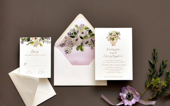 Sweet Bouquet Wedding Invitation