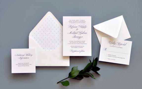 Traditional Elegance Wedding Invitation