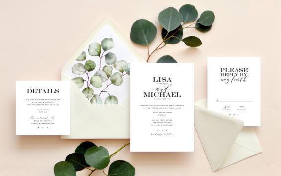 True Affection Wedding Invitation