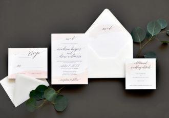 Watercolor Swash Wedding Invitation