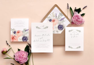 Wild Rose Wedding Invitation