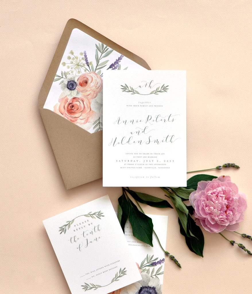Wild Rose Wedding Invitation • Staccato