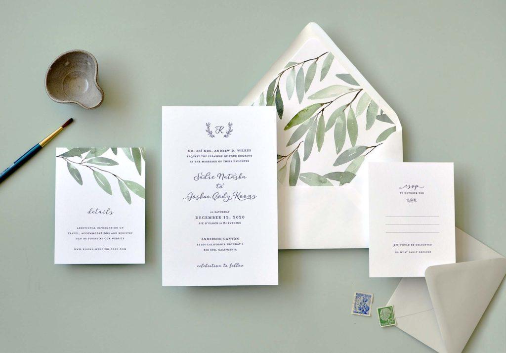 Sadie Wedding Invitation Staccato