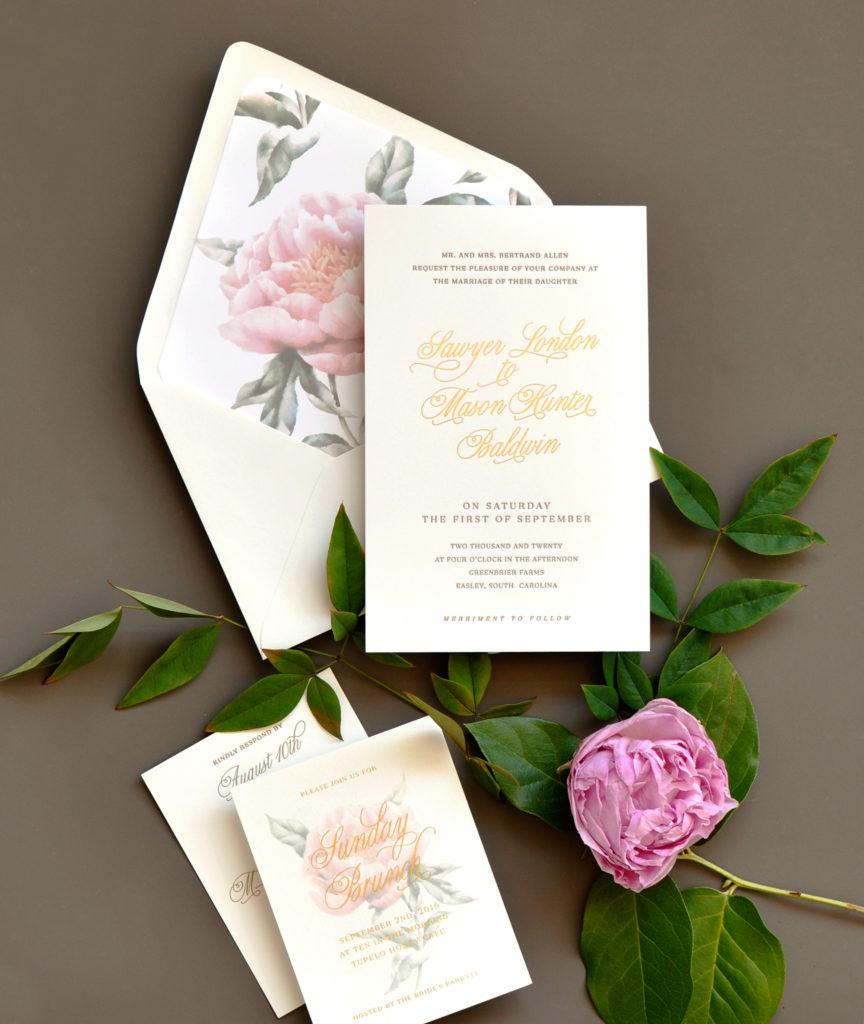 Sawyer Wedding Invitation • Staccato