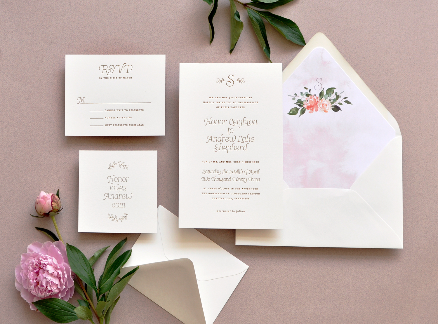 Honor Wedding Invitation