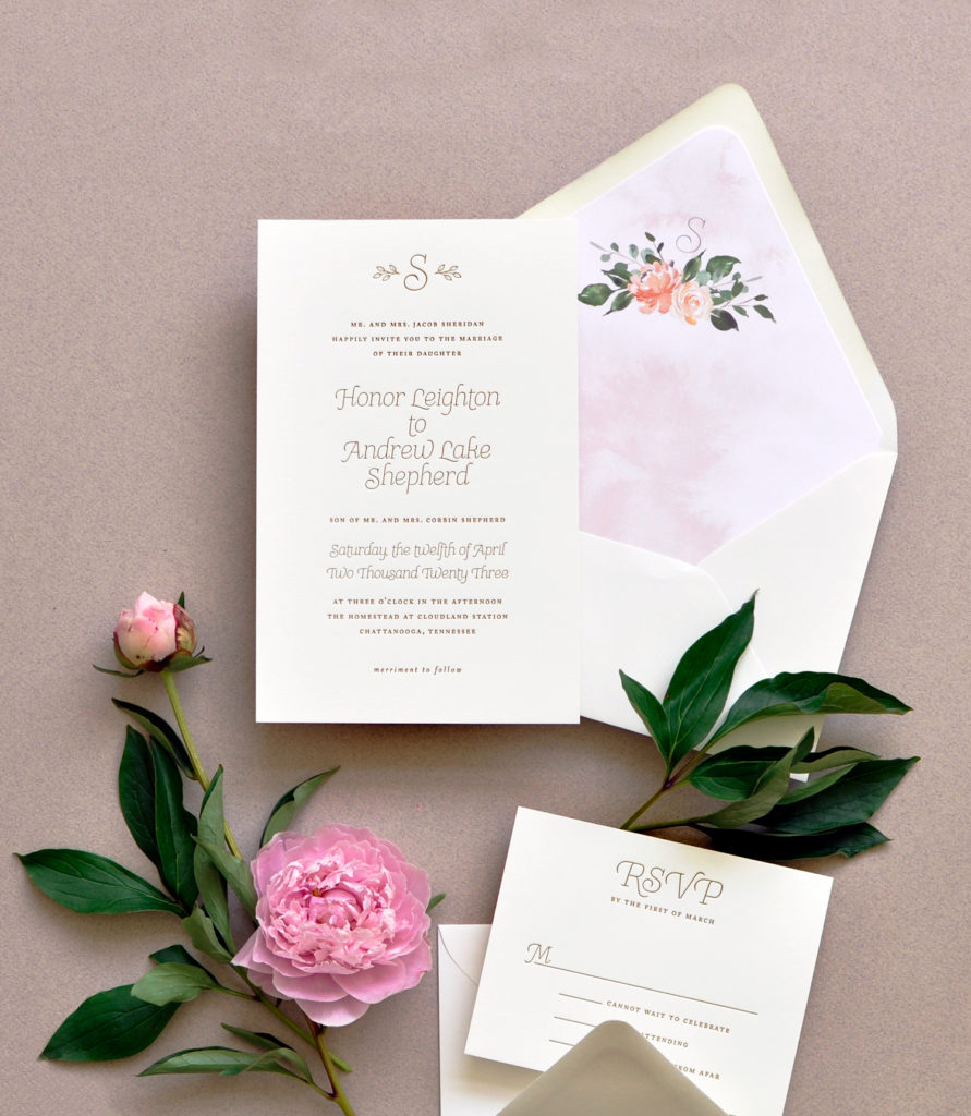 Honor Wedding Invitation • Staccato