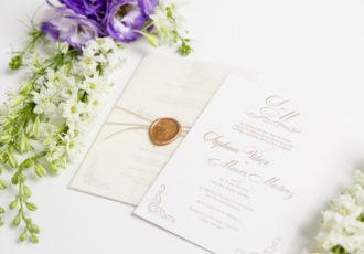 Stephanie & Marcos's Custom Wedding Invitations