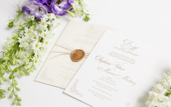Stephanie & Marcos's Custom Wedding Invitations