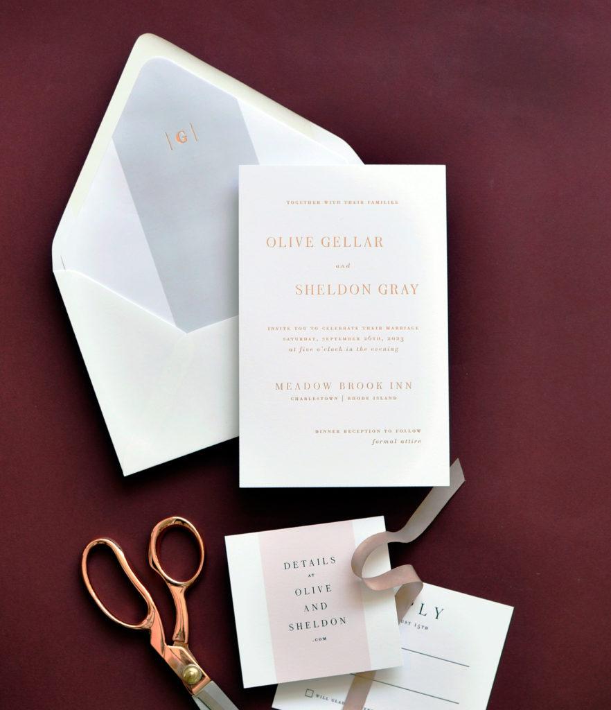 Olive Wedding Invitation • Staccato