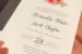 Romantic luxury thermography wedding invitation