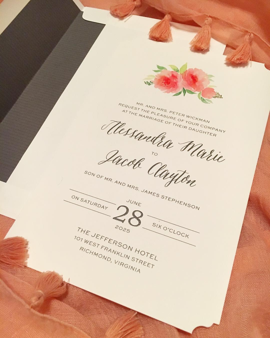 watercolor floral embellishment with casual calligraphy