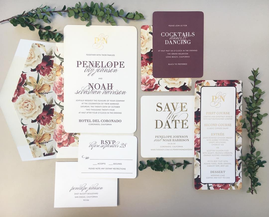 Modern Royalty contemporary typeset wedding invitation