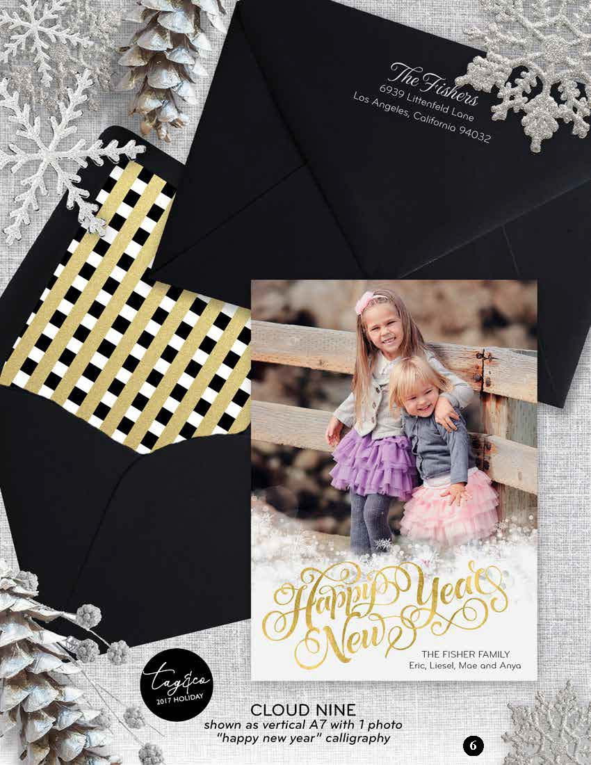 Cloud Nine Holiday Photo Card from Staccato