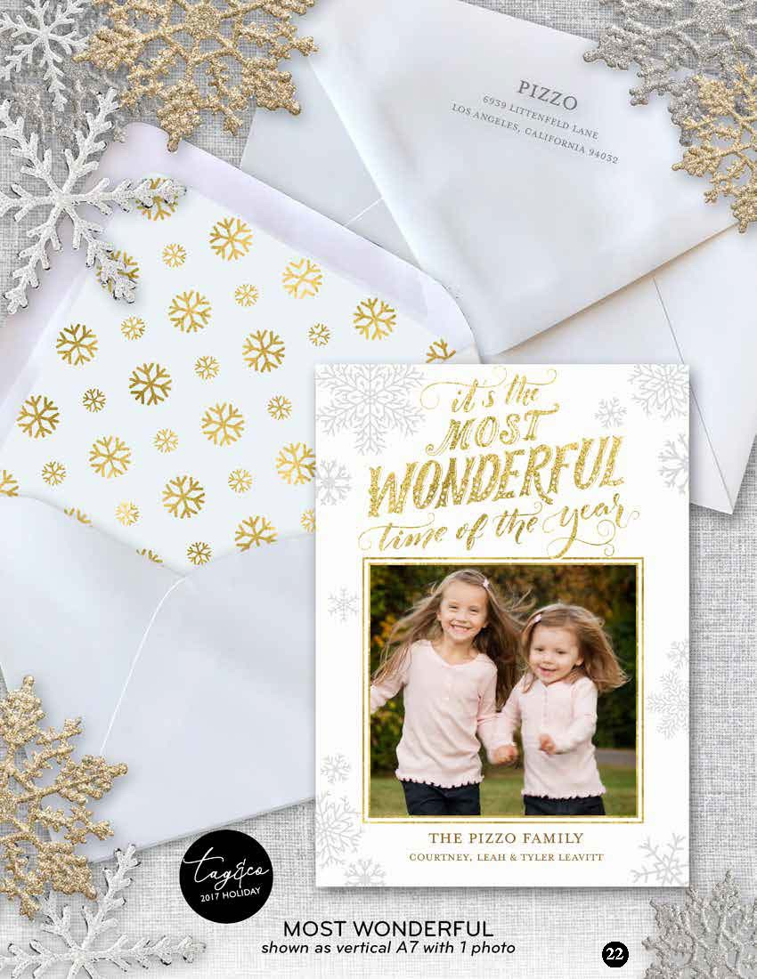 Most Wonderful Holiday Photo Card from Staccato
