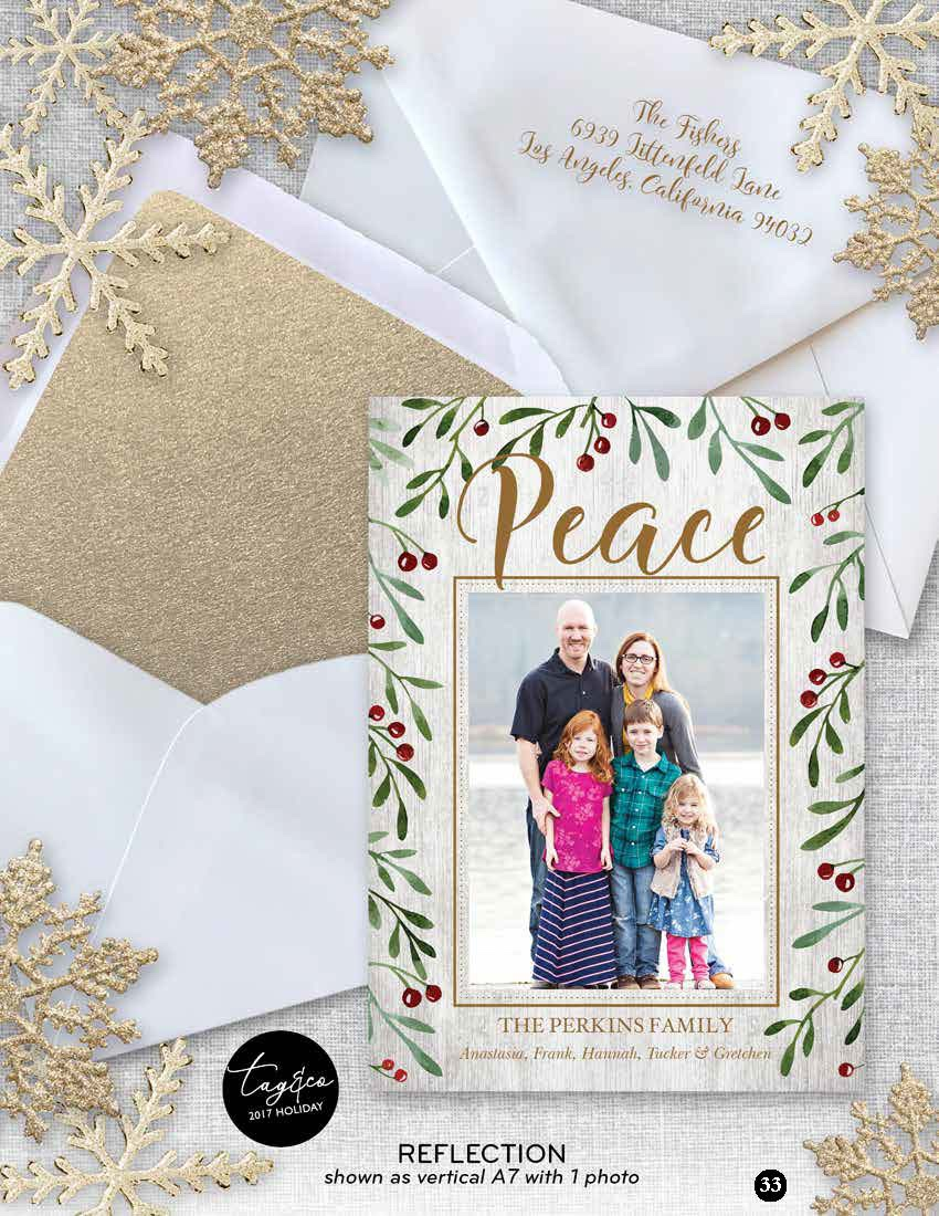 Reflection Holiday Photo Card from Staccato