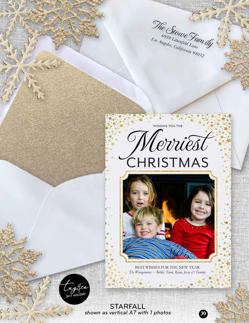 Starfall Holiday Photo Card from Staccato