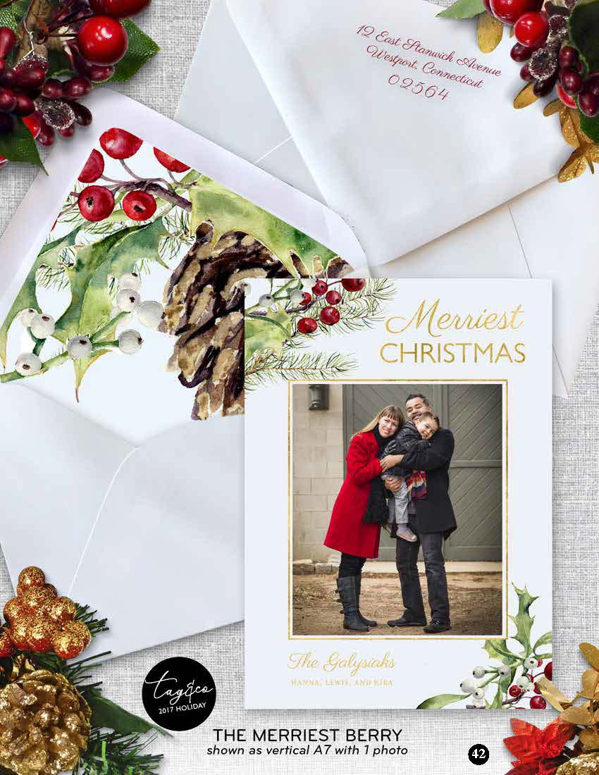 Merriest Berry Holiday Photo Card from Staccato