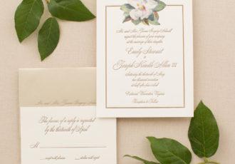 Emily & Tray's Custom Letterpress Wedding Invitations
