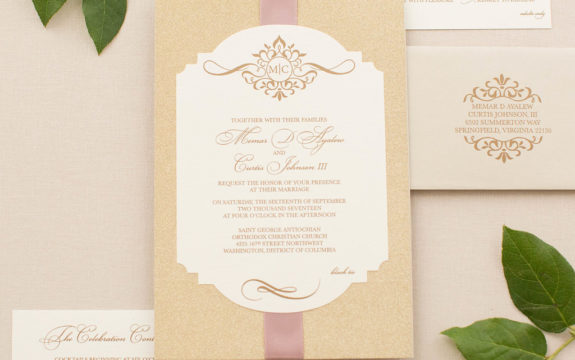 Memar & Curtis's Custom Wedding Invitations