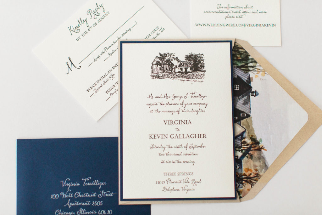 Virginia Kevins Custom Wedding Invitations Staccato