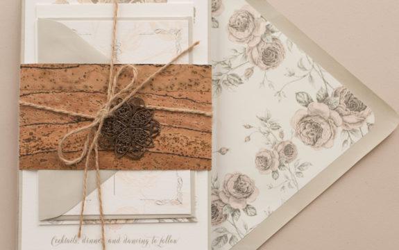 Emily & David's Blush Rose Wedding Invitations