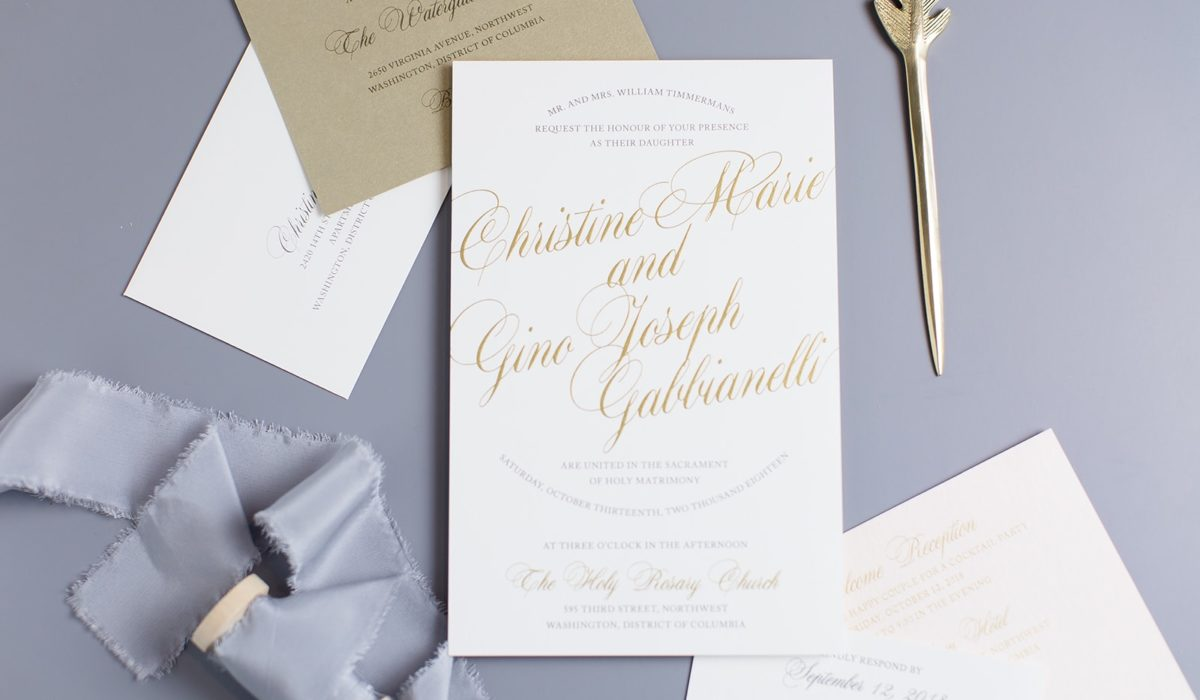 Staccato Wedding Invitations