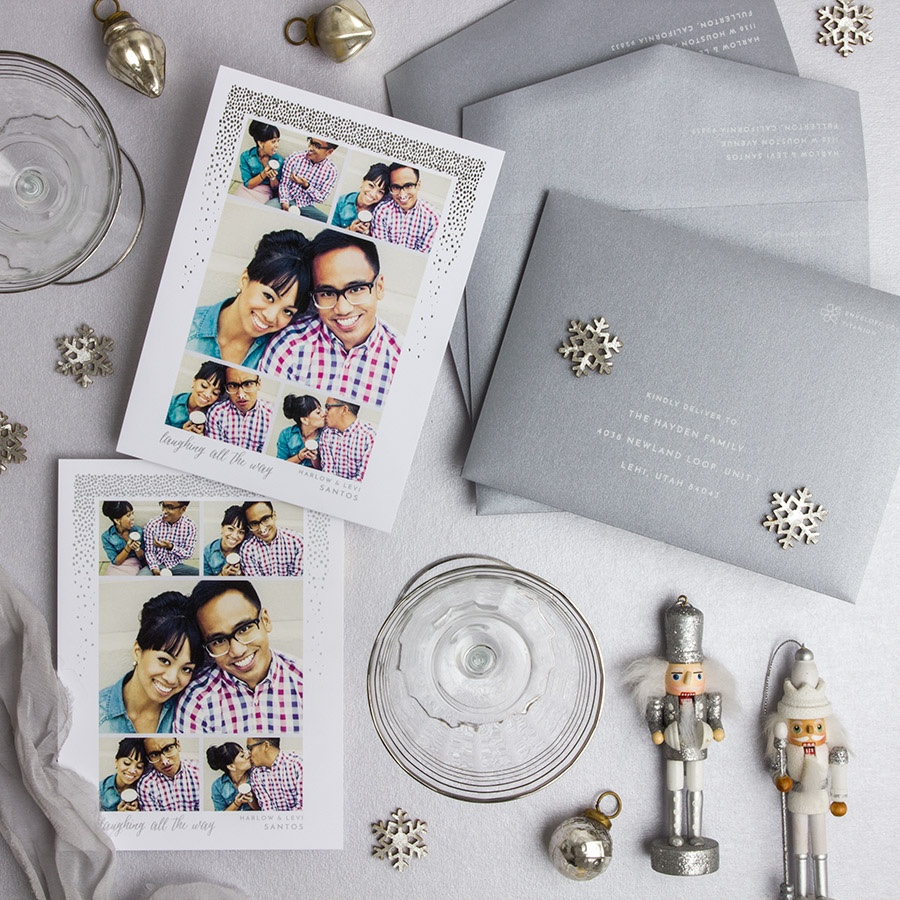 Happy Ha Ha Holidays  customized holiday card from Staccato