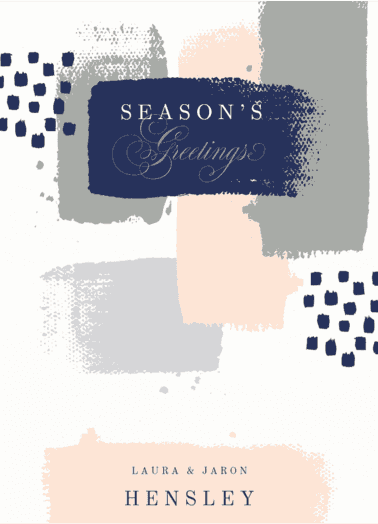 Painted Greeting  customized holiday card from Staccato