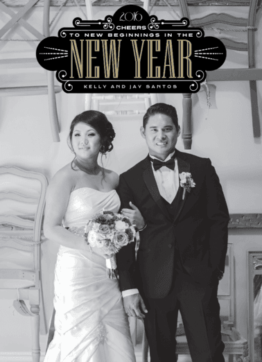 Ring in the New Year  customized holiday card from Staccato