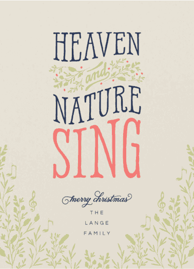 heaven and nature  customized holiday card from Staccato