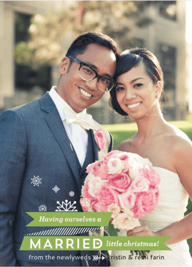 Married Little Christmas  customized holiday card from Staccato