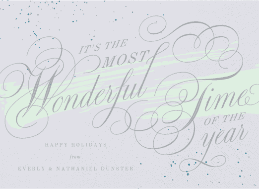 splatters and swirls  customized holiday card from Staccato