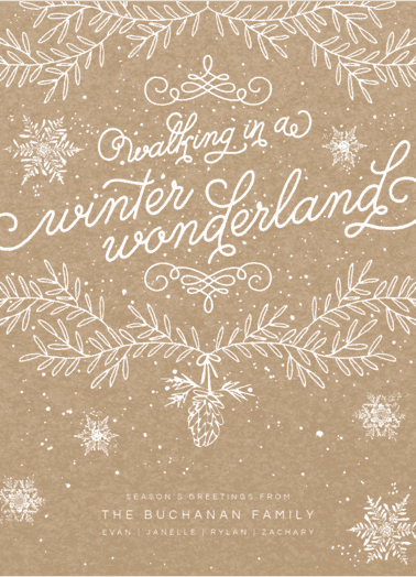 whimsy wonderland  customized holiday card from Staccato