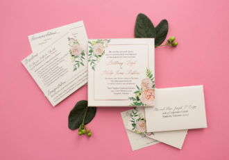 Brittany & Philip's Custom Pocketfold Wedding Invitations