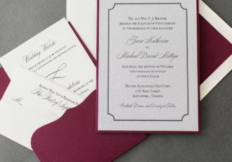 Jane & Michael's Silver Letterpress Wedding Invitations