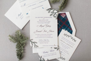 Abby & JJ's Custom Letterpress Wedding Invitations