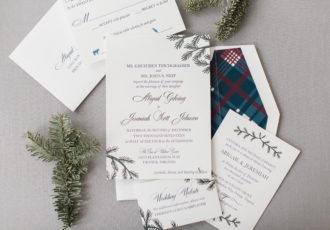 Abby & JJ's Custom Letterpress Wedding Invitations