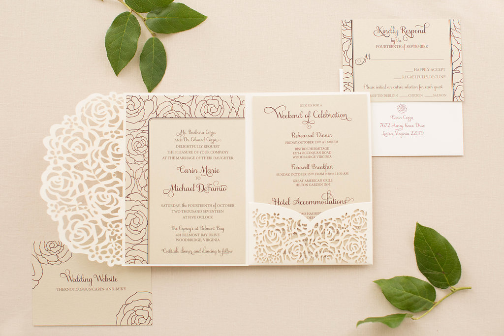 Carin and Mike's Lasercut Wedding Stationery