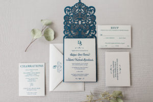 Debra & Steven's Lasercut Wedding Invitations
