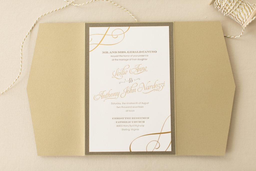 Leslie and Tony\'s Foil Stamped & Letterpress Wedding Invitations ...