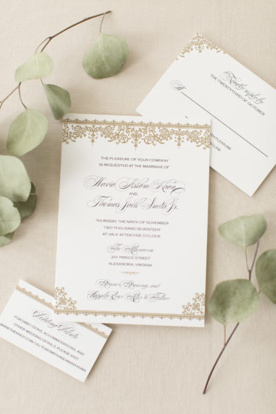 Maria & Tom's Formal Wedding Invitations