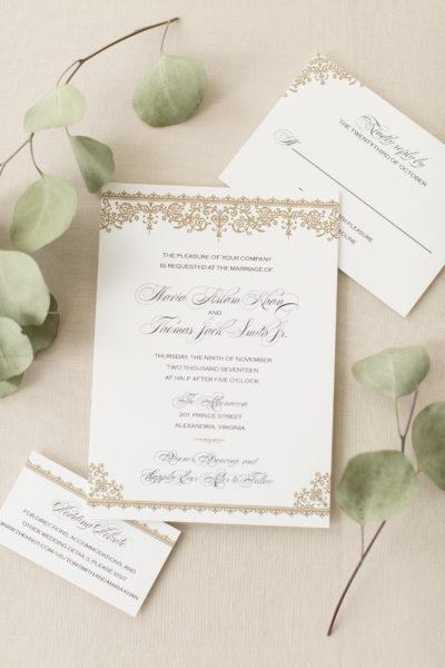 Maria & Tom's Formal Wedding Invitations