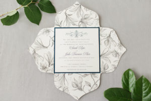 "Sarah & Jake's ""Hopeless Romantic"" Wedding Invitation"