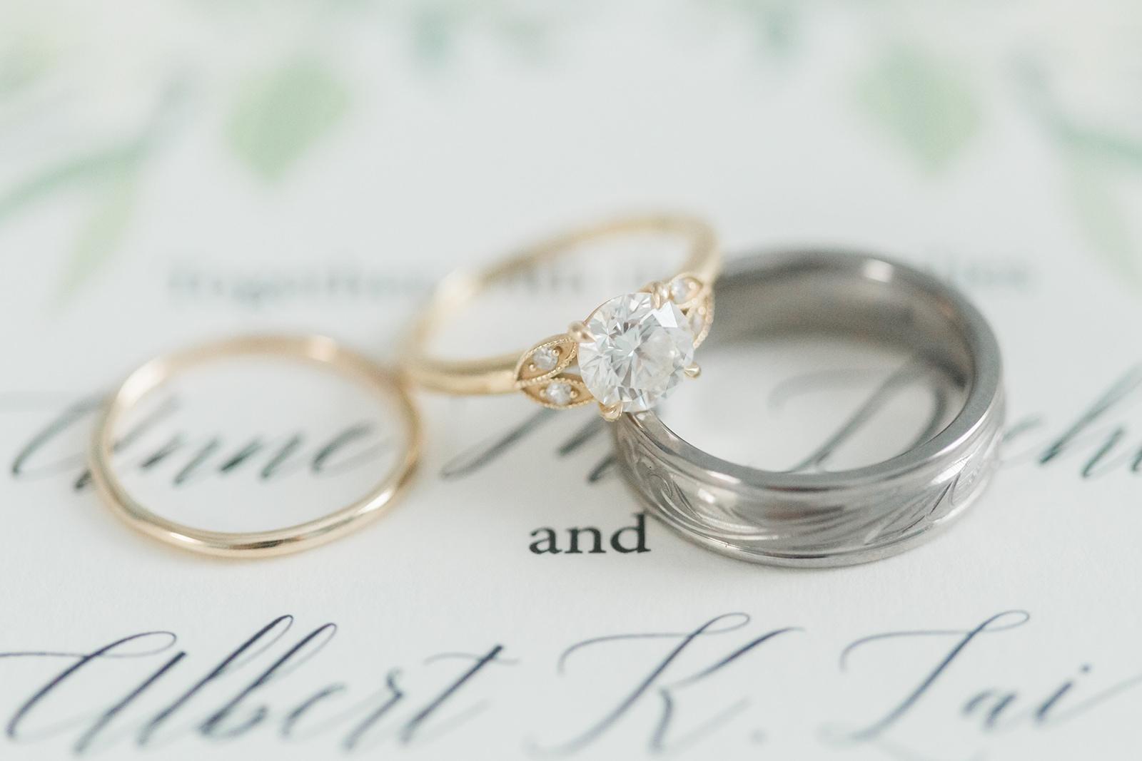 Custom Greenery Wedding Invitations for Anne & Albert • Staccato