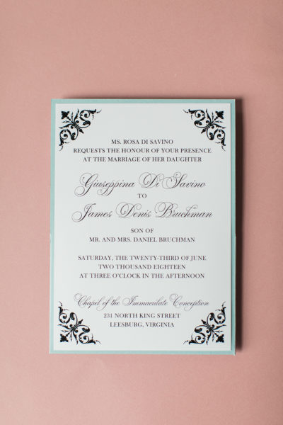 Custom Wedding Invitations for Pina & James