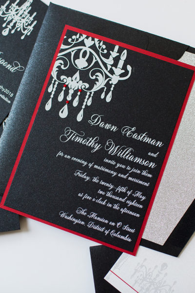 Custom Wedding Invitations for Dawn & Timothy